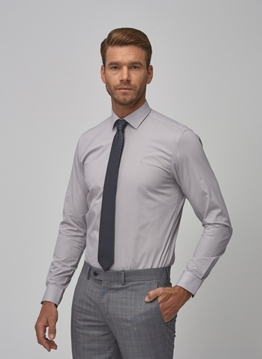 Altınyıldız Classics Tailored Slim Fit Klasik Gömlek 4A2000000001 Gri